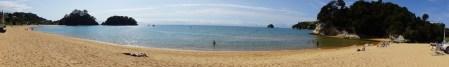 Panorama über die Kaiteriteri Bay