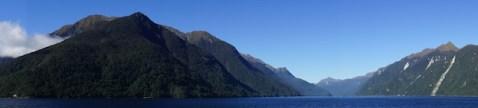 Panorama über Lake Manapouri