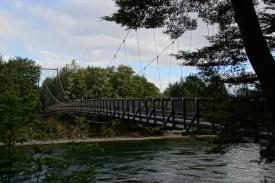 Hängebrücke über den Waiau River