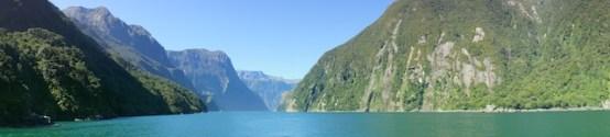 Milford Sound vom Meer aus