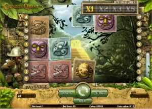 Gonzo Quest pokies game screenshot