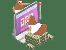 kiwi collecting bonus at casumo