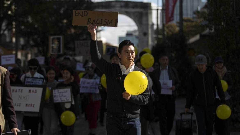 基督城举行反仇恨亚裔的游行