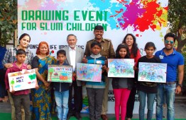 Aashray organized a drawing competition at Sukhna Lake