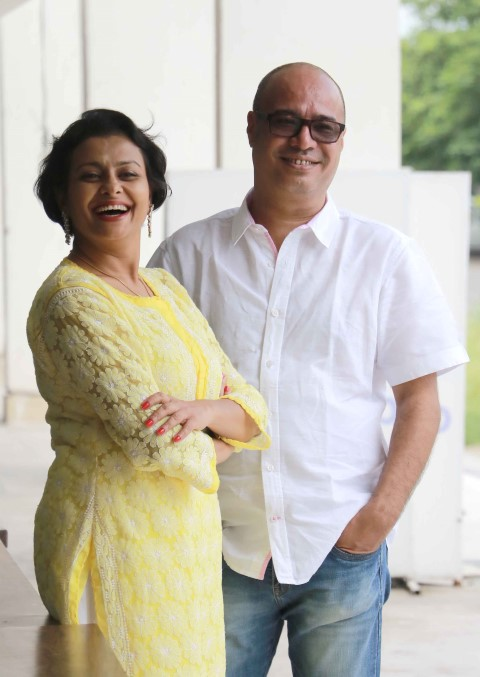 Actor Jaya Bhattacharya with Director Suraj Rao during the launch of Grace Acting Academy on Wednesday_3 (Small)