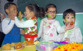Ashmah International School celebrated Holi with fervour