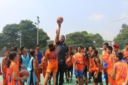 Satnam Singh Bhamara First NBA Basketball Player visits New Public School Basketball Academy In Chandigarh