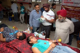 Blood donation camp held at Gian Jyoti, 173 Students & staff donate blood
