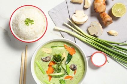 Green Curry Veggie Rice Bowl (Medium)