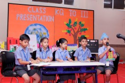 Class presentation held at Dikshant Global School