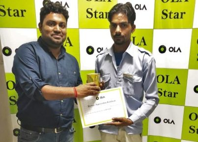 Ola-Heroes of Ola', a multi-city program to recognize outstanding Driver partners