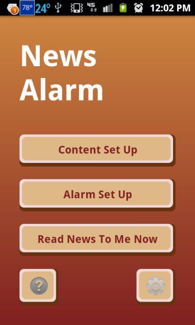 talking news alarm clock