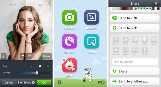 LINE-camera-Selfie-Collage-with-android-phone