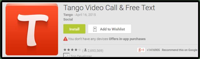 Tango Video Call & Free Text