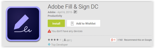 Adobe Fill & Sign DC