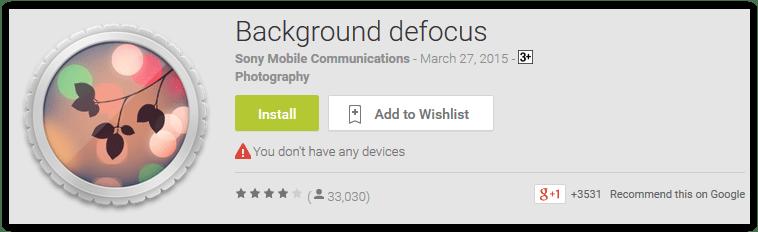 Background defocus