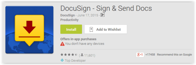 DocuSign - Sign & Send Docs