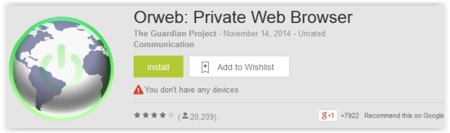 Orweb Private Web Browser