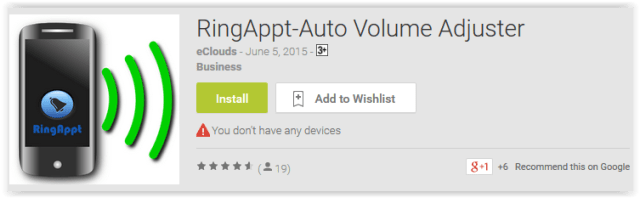 RingAppt-Auto Volume Adjuster