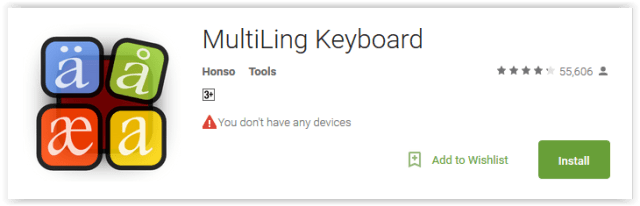 MultiLing Keyboard