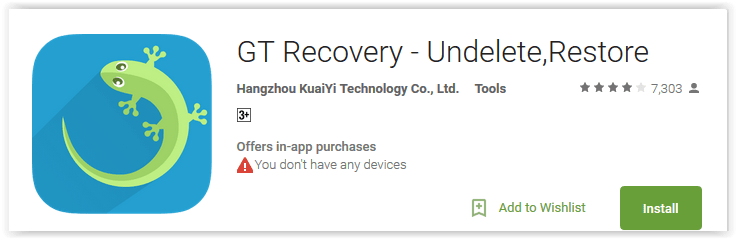 GT Recovery - Undelete, Restore