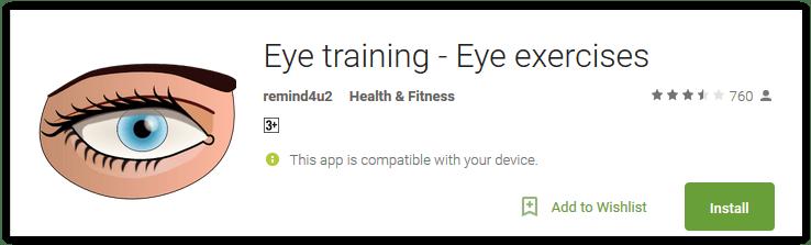 Eye training - Eye exercises