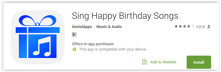 Sing Happy Birthday Songs