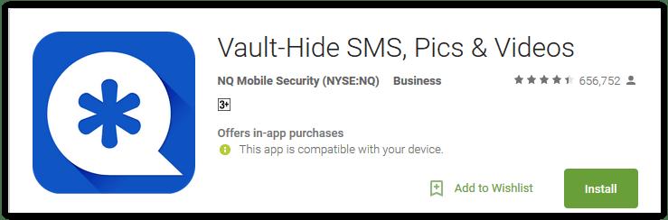 Vault-Hide SMS, Pics & Videos