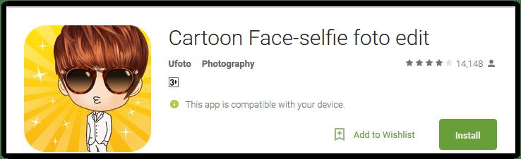 Cartoon Face-selfie foto edit