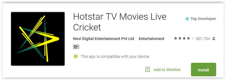 Hotstar TV Movies Live Cricket