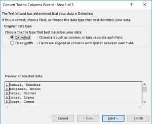 ¿Cómo convertir texto en columnas en Excel?