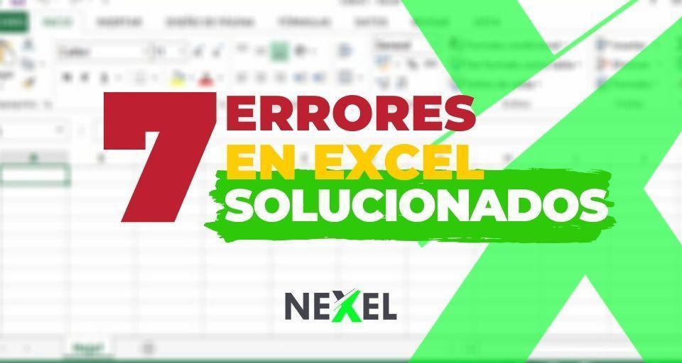 Tipos de Errores de Excel 【 SOLUCIONADOS 】