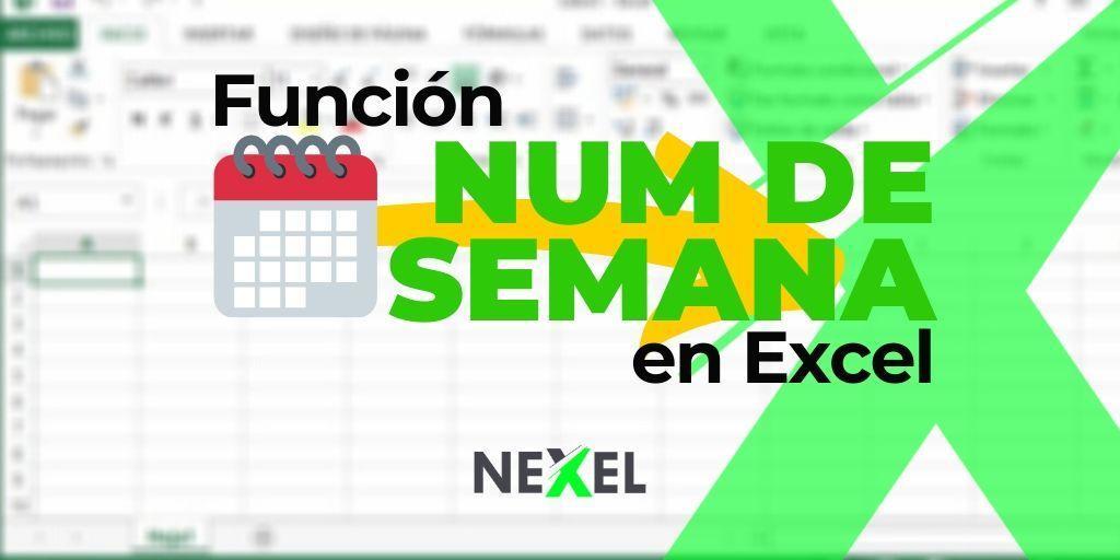 Función NUM.DE.SEMANA en Excel 【 VIDEO 】