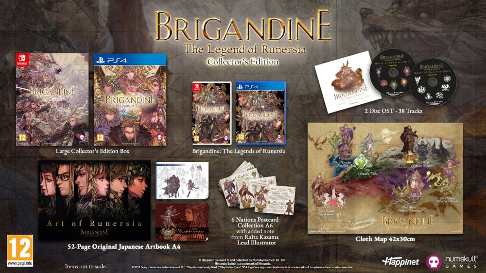Collectors Edition Brigandine The Legend Of Runersia