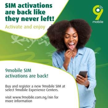 9mobile restores SIM Registration