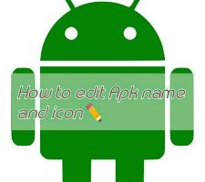 How to edit apk name and icon