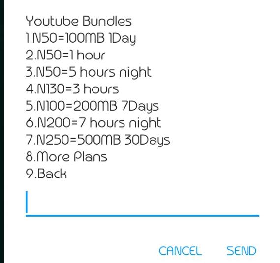 Glo YouTube bundle plans