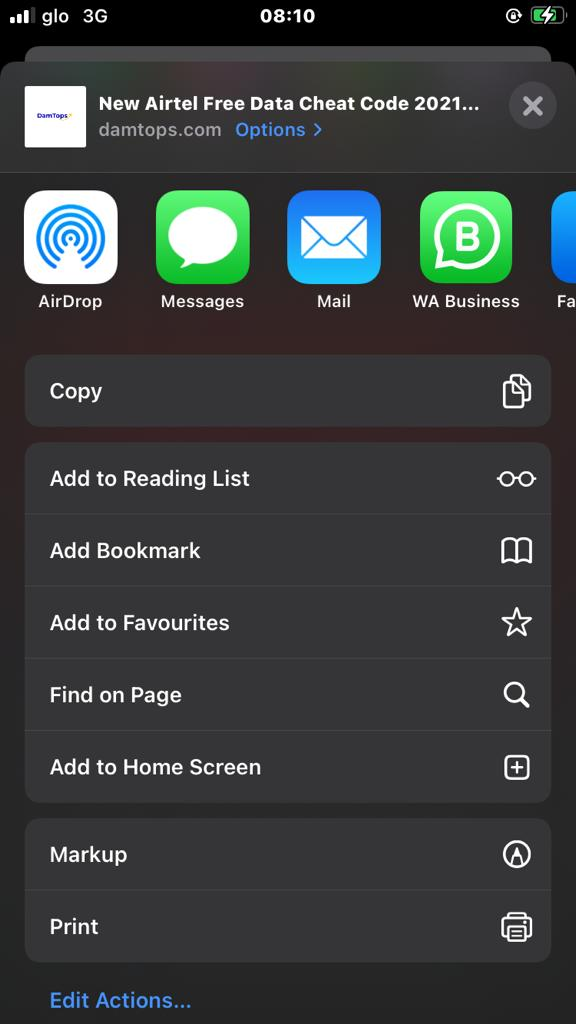 How to locate find in page with Safari browser on iOS
