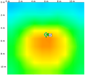 ANT2566P4W North Wall Mount Heatmap