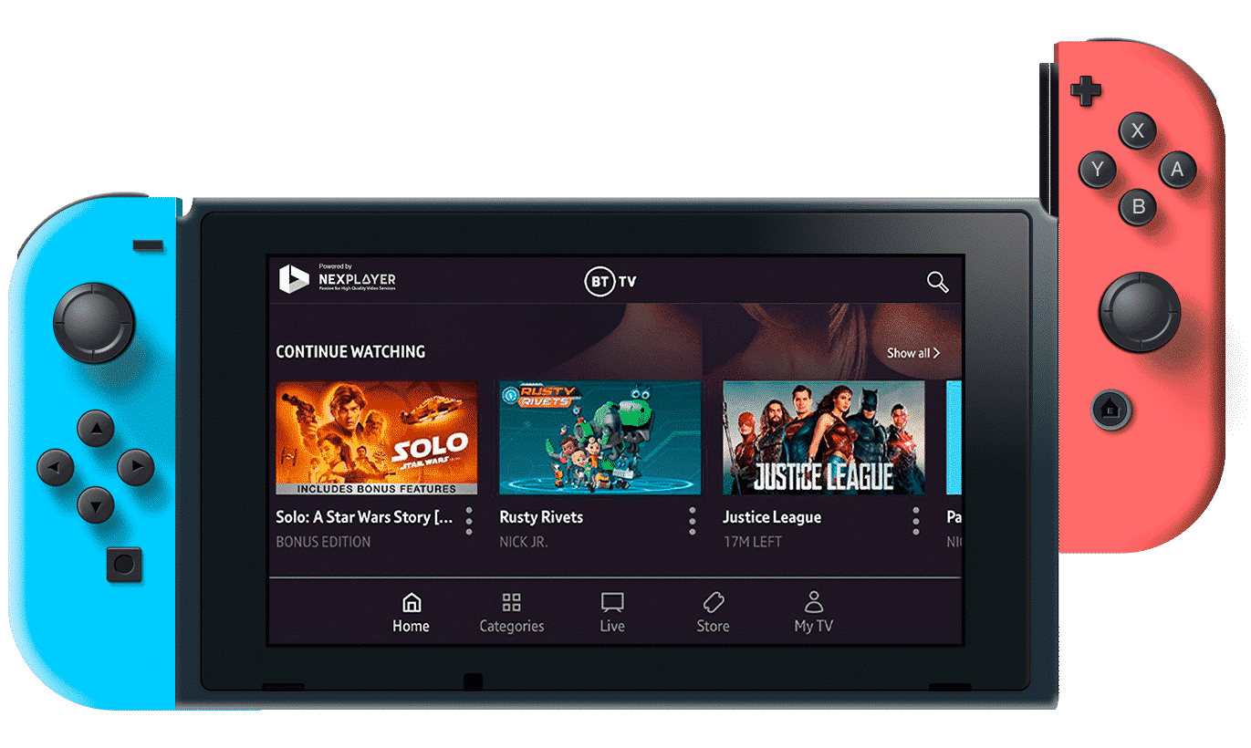 Nintendo Switch with BT Player