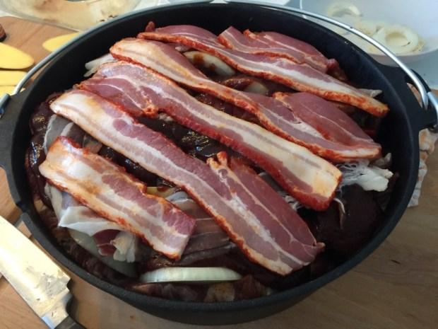 Nächstes mal kaufe ich mir mehr Bacon, Hauptsache ich halte mich an das Rezept