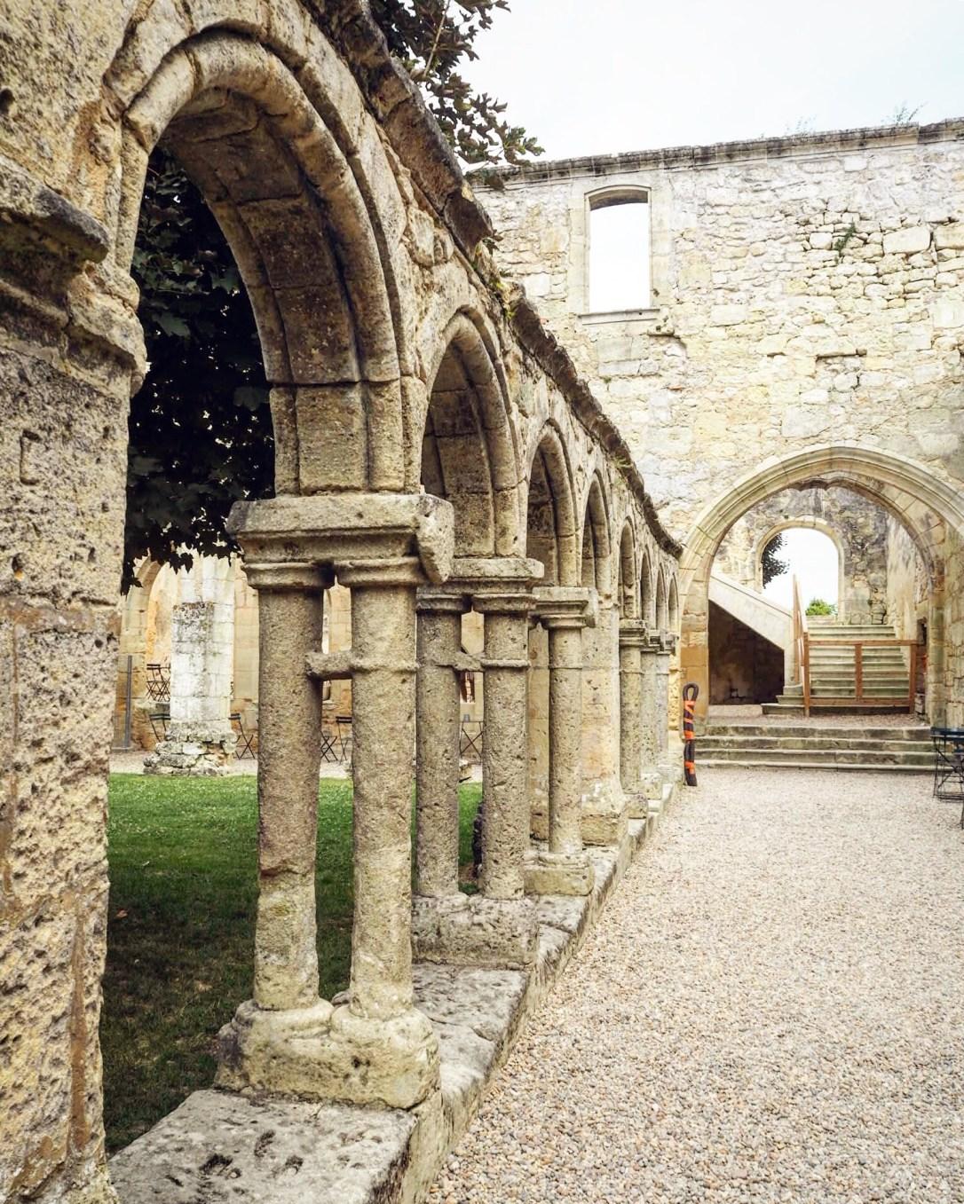 Arches of the Cordeliers Cloister, France - Bordeaux to St Émilion by train
