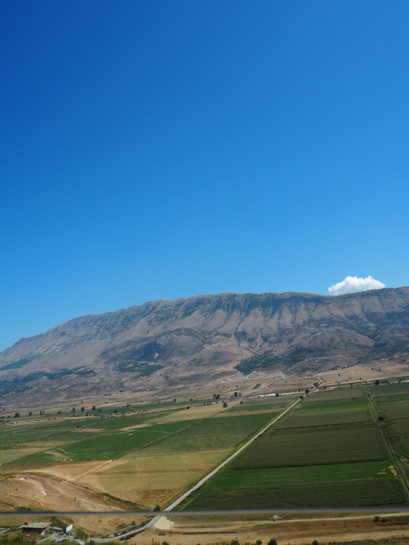 The view on the bus ride from Sarandë to Gjirokastër