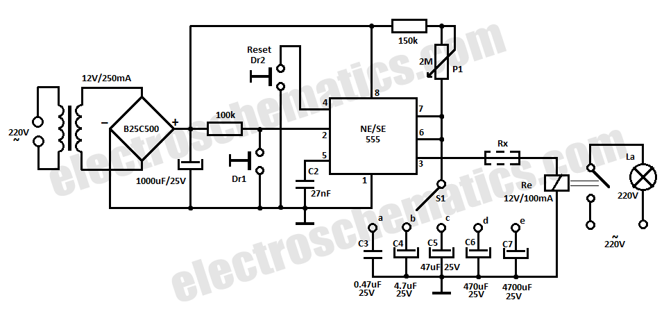 Time Delay Relay Circuit With 555 Under Repository