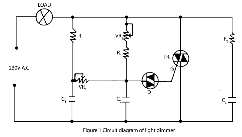 > Circuits > Light Dimmer Using Diac Or Transistor And