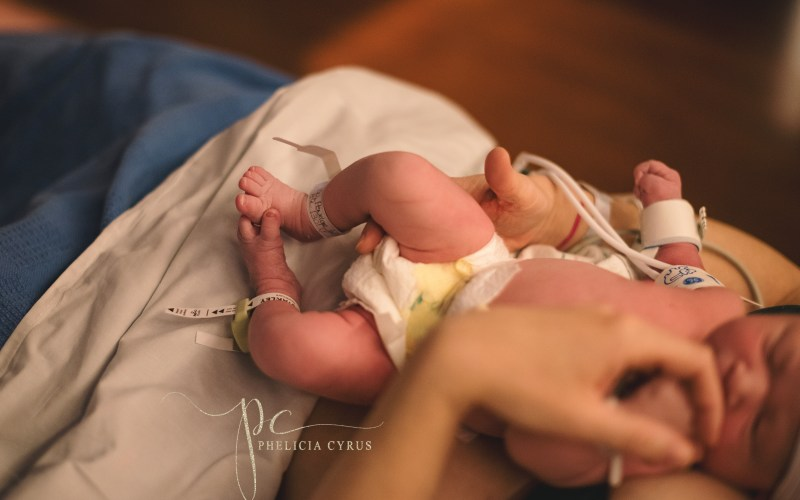 In-home Newborn Session with a New Baby Sister