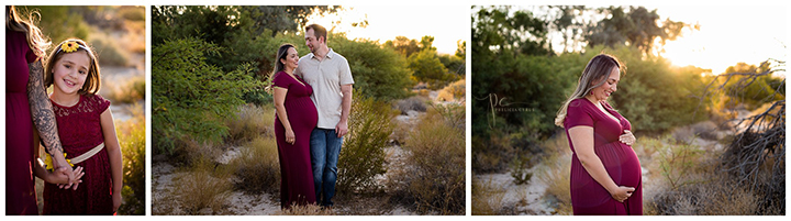 glowing maternity session at Tulle Springs Park