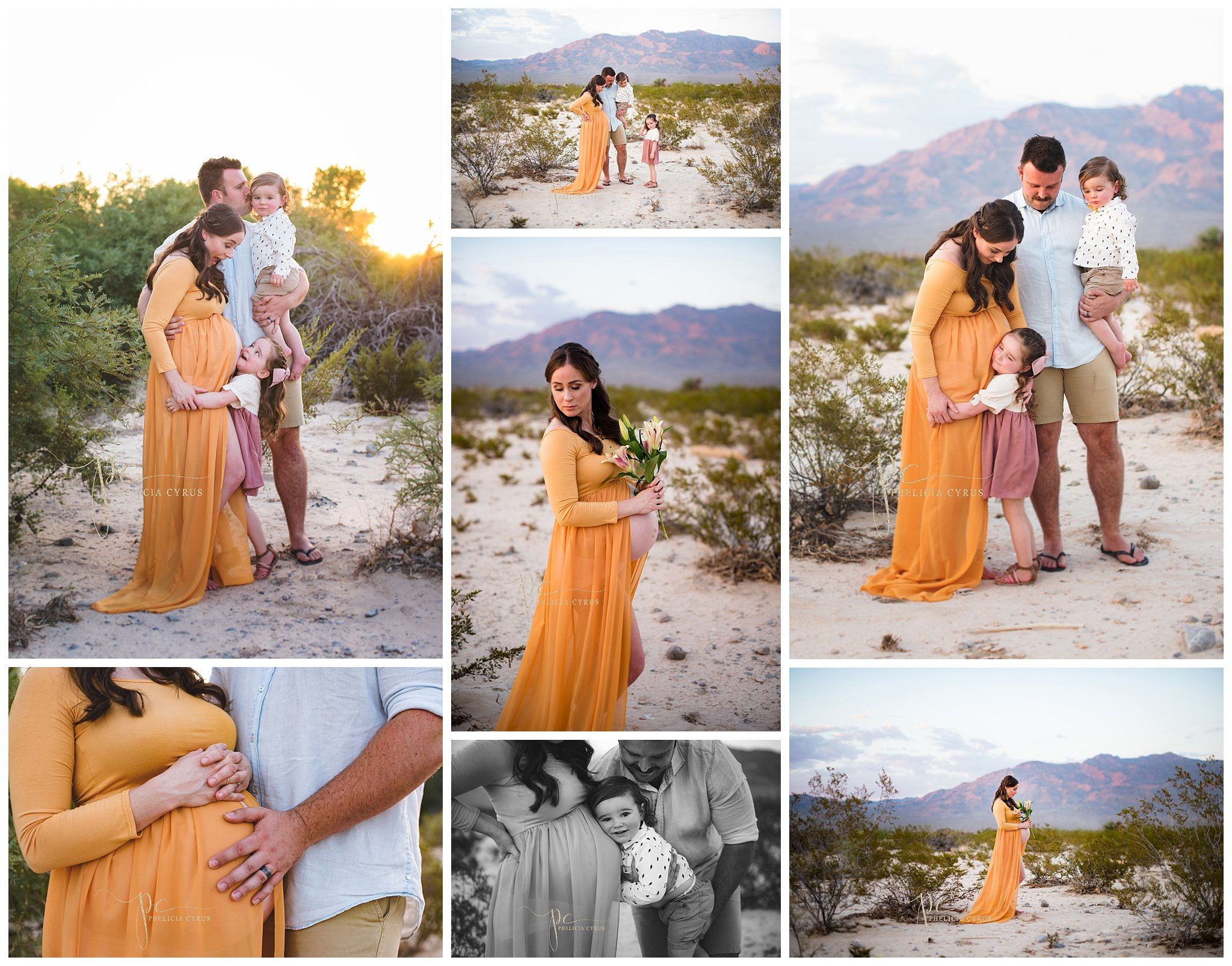 las-vegas-maternity-photography-of-mom-and-daughter-in-desert