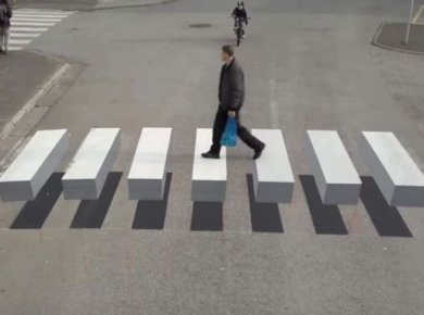 3D Crosswalk: You-cant-drive-past-this-cross-walk-without-a-jolt