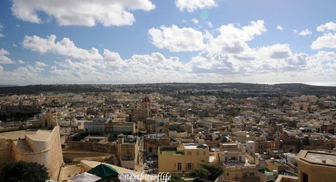cittadella view of gozo